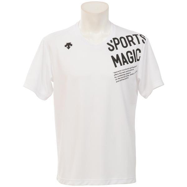 (セール)DESCENTE(デサント)バレーボール 半袖Tシャツ 16S SMU H/S SHIRT2 DOR-B0002 WHT