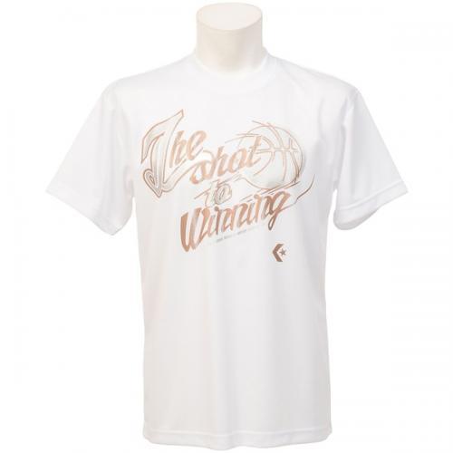 (セール)CONVERSE(コンバース)バスケットボール メンズ 半袖Tシャツ 16SS SMUプリントTシャツ CBC261318-1100 メンズ ホワイト