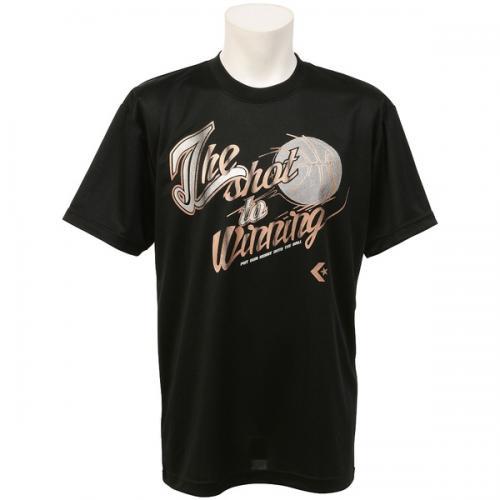 (セール)CONVERSE(コンバース)バスケットボール メンズ 半袖Tシャツ 16SS SMUプリントTシャツ CBC261318-1900 メンズ ブラック