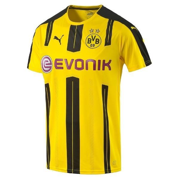 (セール)(送料無料)PUMA(プーマ)サッカー 海外クラブ ナショナルチーム BVB SSホームレプリカシャツ 74982101 メンズ サイバー イエロー/ブラック