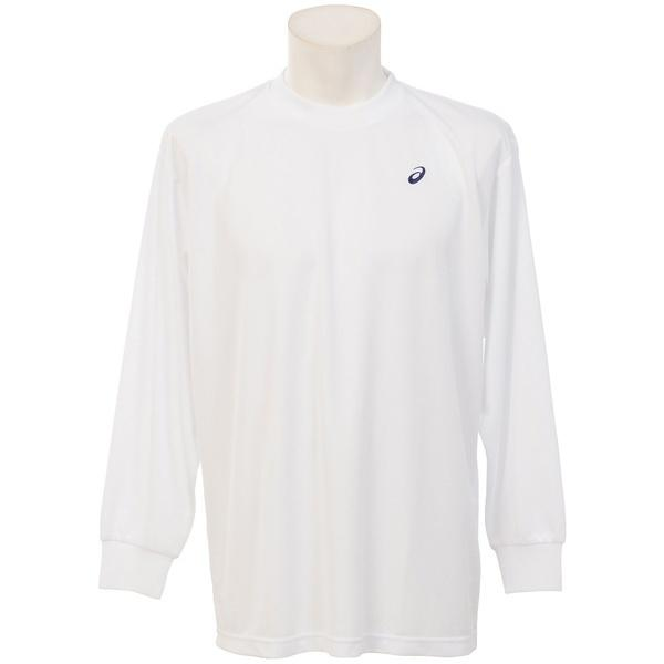 ASICS(アシックス)バレーボール 長袖Tシャツ 16 1POINT T LS EZO929.0150 WHT/NVY