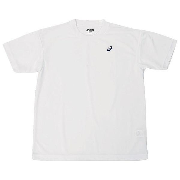 (セール)ASICS(アシックス)バレーボール 半袖Tシャツ 16 1POINT T HS EZO928.0150 WHT/NVY