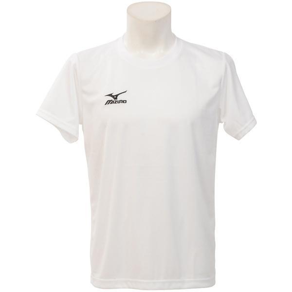 MIZUNO(ミズノ)バレーボール 半袖Tシャツ NC半袖プラクティスシャツ V2MA640201 ホワイトXブラック