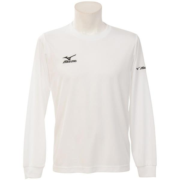 MIZUNO(ミズノ)バレーボール 長袖Tシャツ NC長袖プラクティスシャツ V2MA649201 ホワイトXブラック