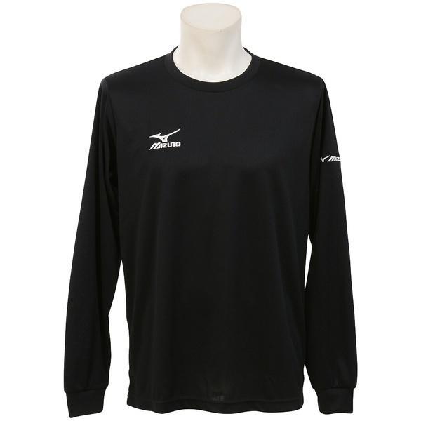 MIZUNO(ミズノ)バレーボール 長袖Tシャツ NC長袖プラクティスシャツ V2MA649295 ブラックXホワイト