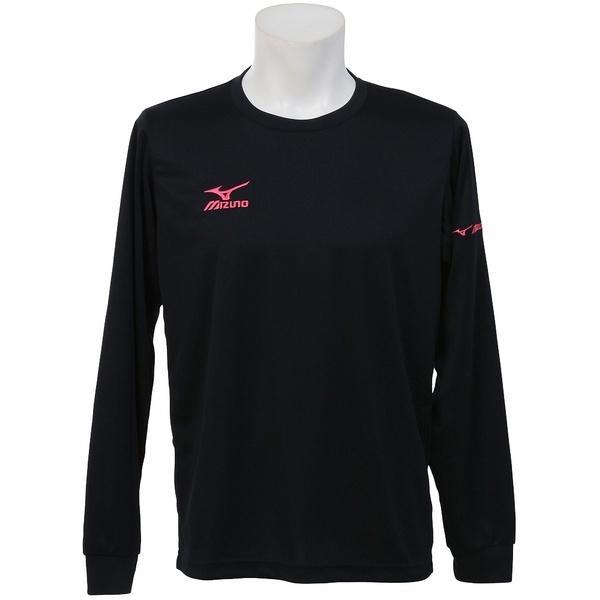 MIZUNO(ミズノ)バレーボール 長袖Tシャツ NC長袖プラクティスシャツ V2MA649297 ブラックXマゼンタ