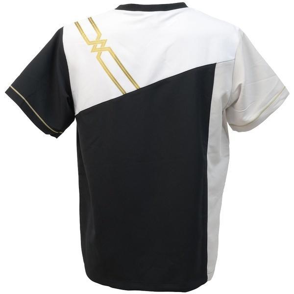 (セール)MIZUNO(ミズノ)バレーボール ウェア クロスシャツ(NCオリジナル)V2JC640290 ブラックXシルバー