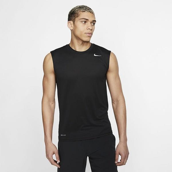 (セール)NIKE(ナイキ)メンズスポーツウェア 半袖機能Tシャツ ナイキ DRI-FIT レジェンド S/L Tシャツ 718836-010 メンズ ブラック/ブラック/(マットシルバー)