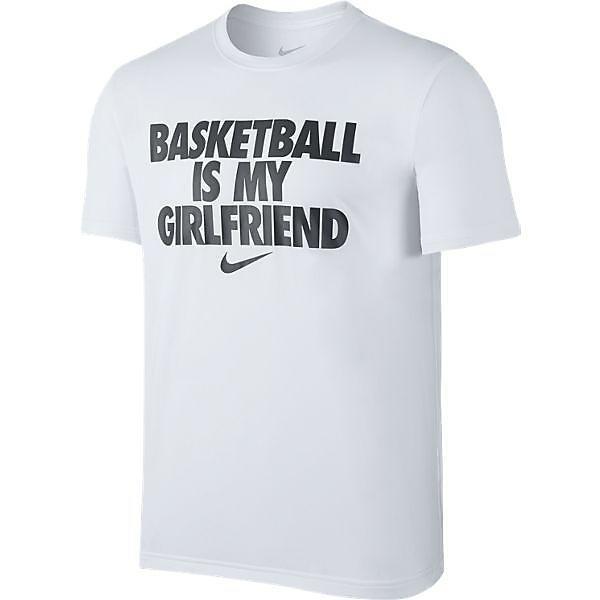 (セール)NIKE(ナイキ)バスケットボール メンズ 半袖Tシャツ ナイキ バスケットボール イズ マイ ガールフレンド Tシャツ 816100-100 メンズ ホワイト/ホワイト/(ブラック)