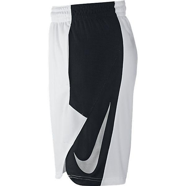 (セール)NIKE(ナイキ)バスケットボール メンズ プラクティスショーツ ナイキ ハイパークール パワー ショート 718821-100 メンズ ホワイト/ブラック/ブラック/(メタリックシルバー)