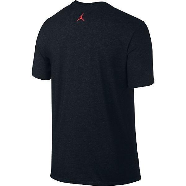 NIKE(ナイキ)バスケットボール メンズ 半袖Tシャツ エア ジョーダン DRI-FIT Tシャツ 789647-011 メンズ ブラック/ハイパーターク/(インフラレッド23)