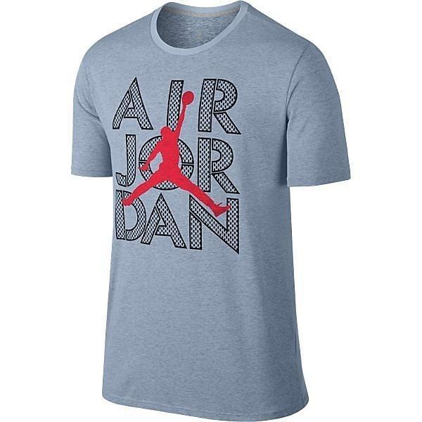 (セール)NIKE(ナイキ)バスケットボール メンズ 半袖Tシャツ エア ジョーダン DRI-FIT Tシャツ 789647-470 メンズ ブルーグレーヘザー/ブラック/(インフラレッド23)