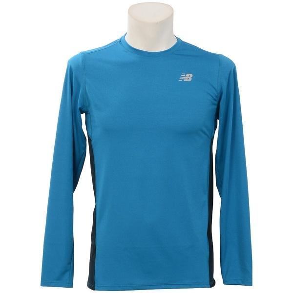 (セール)New Balance(ニューバランス)ランニング メンズ長袖Tシャツ アクセレレイトロングスリーブTシャツ AMT53060 BDA メンズ バラクーダ