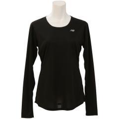 (セール)New Balance(ニューバランス)ランニング レディース半袖Tシャツ アクセレレイトロングスリーブ WT53142 BK レディース ブラック