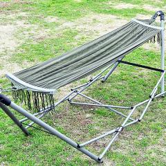 (送料無料)HIGHMOUNT(ハイマウント)キャンプ用品 キャンピングアクセサリー カーキグリーンハンモック&スタンド 62209