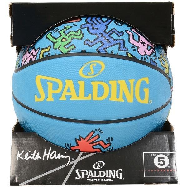 SPALDING(スポルディング)バスケットボール 5号ボール キース・ヘリング 5 83-363J ブルー系