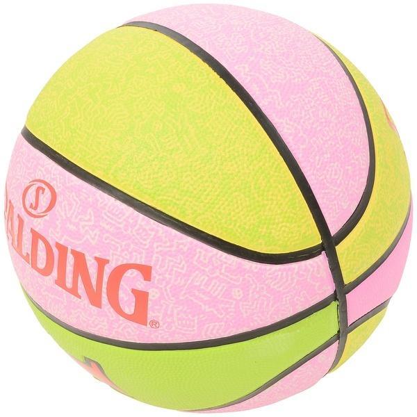 SPALDING(スポルディング)バスケットボール 6号ボール キース・ヘリング 6 83-364J ピンク系