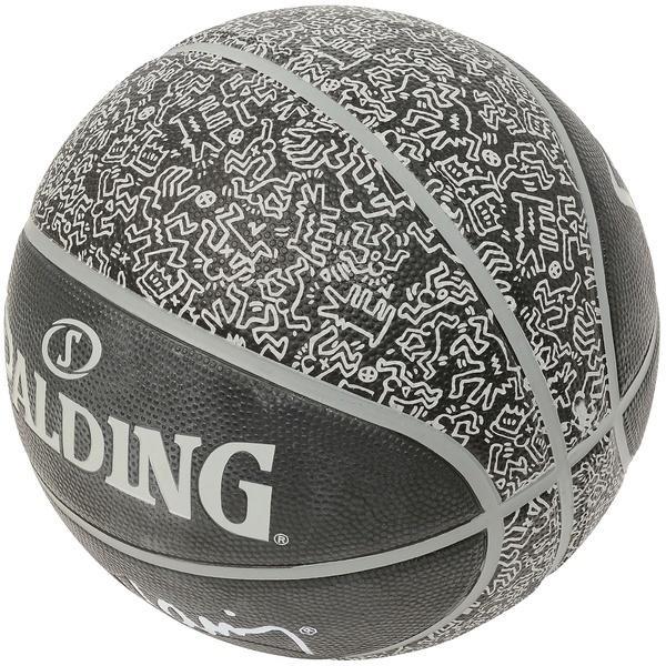 SPALDING(スポルディング)バスケットボール 7号ボール キース・ヘリング 7 83-365J ブラック系