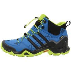 adidas(アディダス)トレッキングシューズ メンズ SWIFT R MID GORE-TEX KAP71 AF6395 メンズ イーキューティーブルーS16/コアブラック/イーキューティーグリーン S16