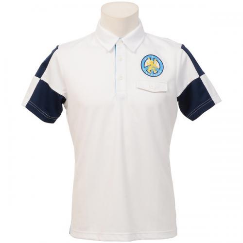 (セール)(送料無料)VIVA HEART(ビバハート)ゴルフ 半袖ポロ 半袖ハイネック メンズ半袖ニットシャツ 011-23541-5 メンズ 48 WHITE