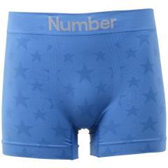 (セール)Number(ナンバー)メンズスポーツウェア その他パンツ 成型ボクサーパンツ NB-F16-305-035 メンズ ブルー(星)
