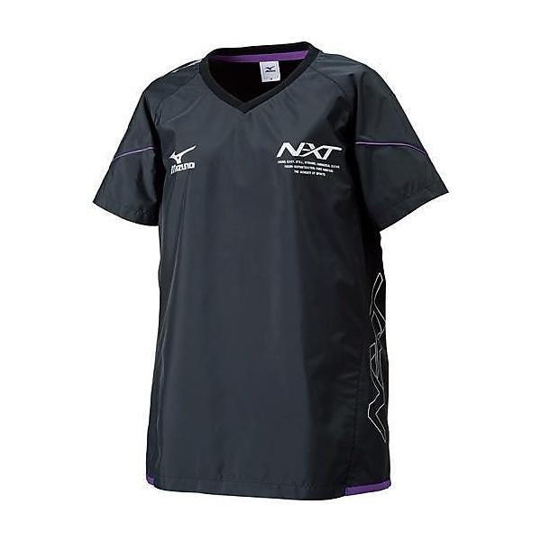 MIZUNO(ミズノ)バレーボール ウェア ムーヴウィンドブレーカーシャツ V2ME670298 レディース ブラックxパープル
