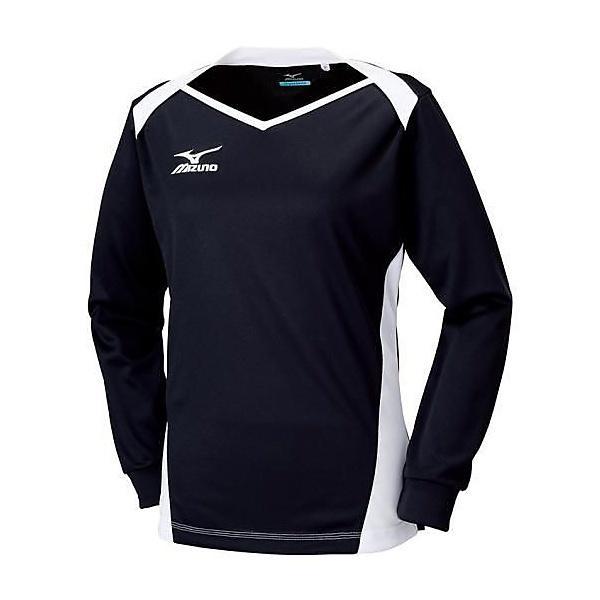 (セール)MIZUNO(ミズノ)バレーボール 長袖プラクティスシャツ プラクティスシャツ V2MA679090 レディース ブラックxホワイト