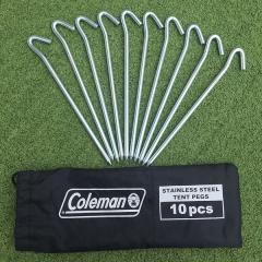 COLEMAN(コールマン)キャンプ用品 ペグ ステンレスペグ10本セット 2000030413