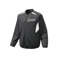 (セール)MIZUNO(ミズノ)野球 ウインドシャツ BKライトジャケットGE 12JE6K0109 メンズ ブラックxホワイト