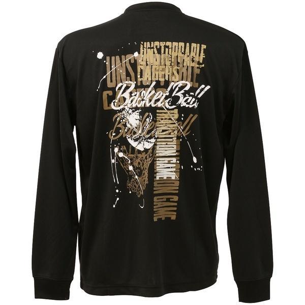 (セール)s.a.gear(エスエーギア)バスケットボール メンズ 長袖Tシャツ 長袖グラフィックT 1 SA-F16-103-040 メンズ ブラック/ゴールド