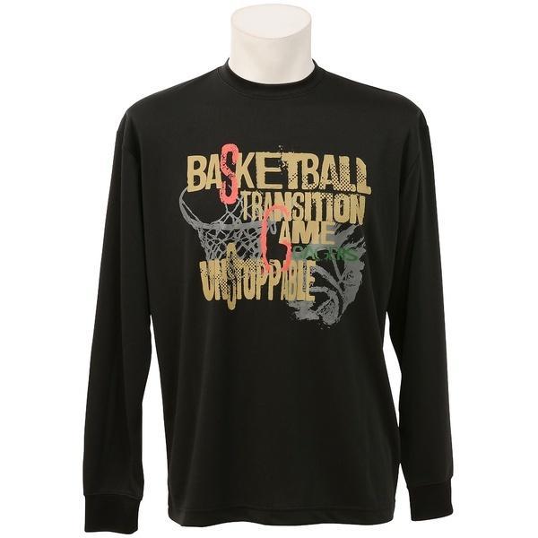 (セール)s.a.gear(エスエーギア)バスケットボール メンズ 長袖Tシャツ 長袖グラフィックT 3 SA-F16-103-042 メンズ ブラック/ゴールド