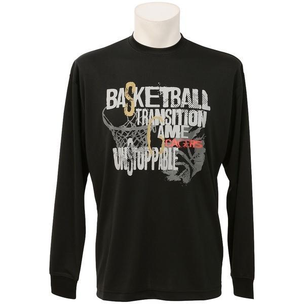 (セール)s.a.gear(エスエーギア)バスケットボール メンズ 長袖Tシャツ 長袖グラフィックT 3 SA-F16-103-042 メンズ ブラック/シルバー