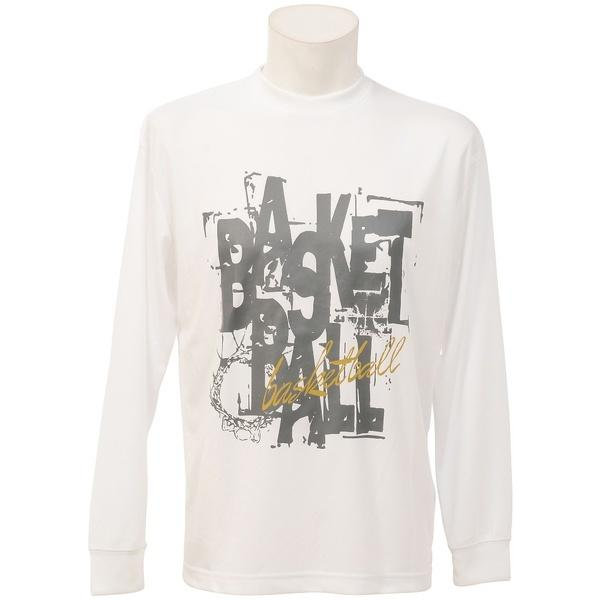 (セール)s.a.gear(エスエーギア)バスケットボール メンズ 長袖Tシャツ 長袖グラフィックT 4 SA-F16-103-043 メンズ ホワイト