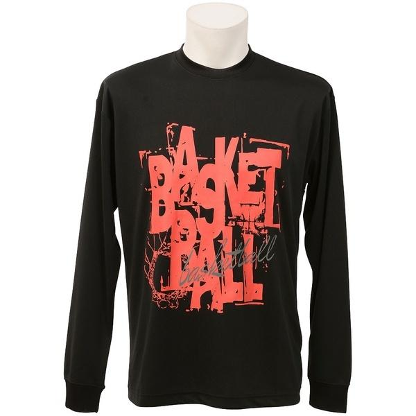 (セール)s.a.gear(エスエーギア)バスケットボール メンズ 長袖Tシャツ 長袖グラフィックT 4 SA-F16-103-043 メンズ ブラック/レッド