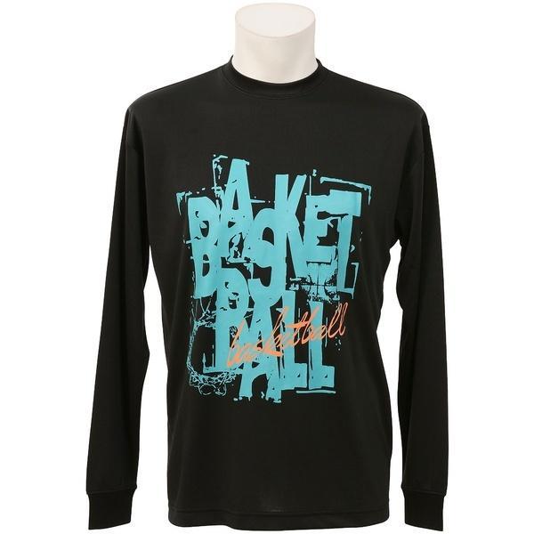 (セール)s.a.gear(エスエーギア)バスケットボール メンズ 長袖Tシャツ 長袖グラフィックT 4 SA-F16-103-043 メンズ ブラック/サックス
