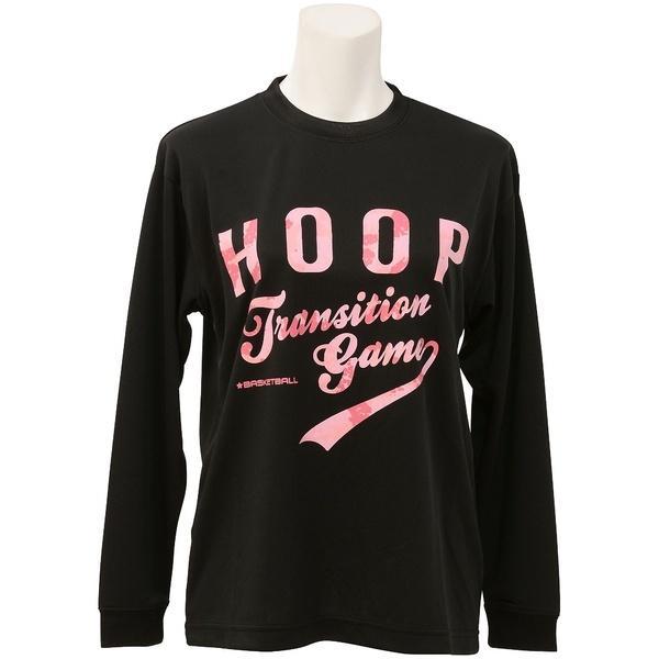 (セール)s.a.gear(エスエーギア)バスケットボール レディース 長袖Tシャツ WS長袖グラフィックT 1 SA-F16-103-044 レディース ブラック/ピンク