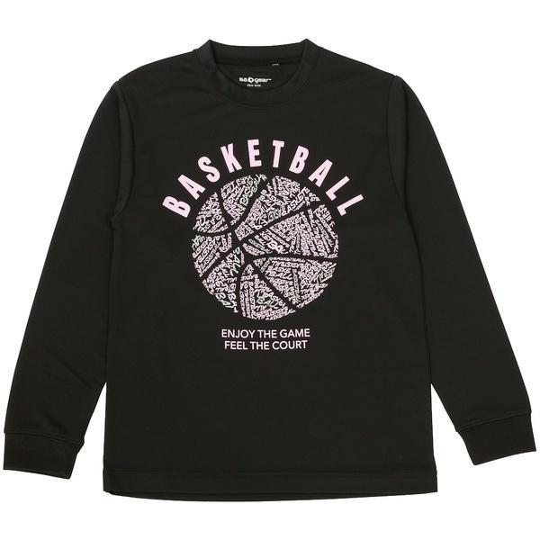 (セール)s.a.gear(エスエーギア)バスケットボール ジュニア 長袖Tシャツ JR長袖グラフィックT 2 SA-F16-103-046 ジュニア ブラック/ピンク