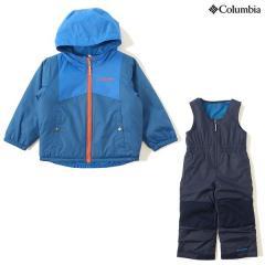 (セール)(送料無料)Columbia(コロンビア)ウインター ジュニアアパレル DOUBLE FLAKE SET SC1093-438 ジュニア 3T SUPER BLUE