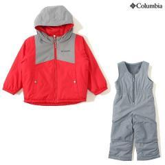 (セール)(送料無料)Columbia(コロンビア)ウインター ジュニアアパレル DOUBLE FLAKE SET SC1093-613 ジュニア 3T MOUNTAIN RED