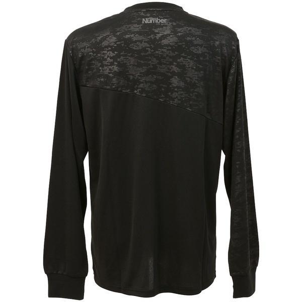 (セール)Number(ナンバー)バスケットボール メンズ 長袖Tシャツ NBTFデジタルカモ切替プラクティスロングTシャツ NB-F16-103-017 メンズ ブラック