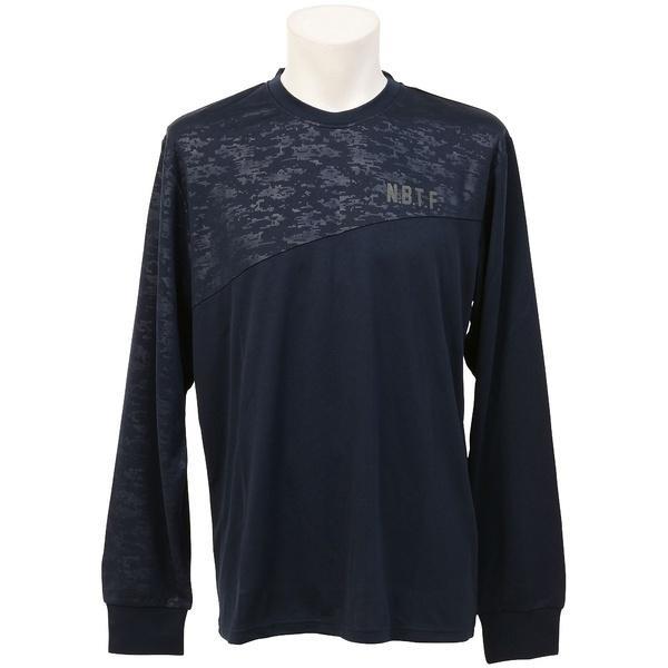 (セール)Number(ナンバー)バスケットボール メンズ 長袖Tシャツ NBTFデジタルカモ切替プラクティスロングTシャツ NB-F16-103-017 メンズ ネイビー