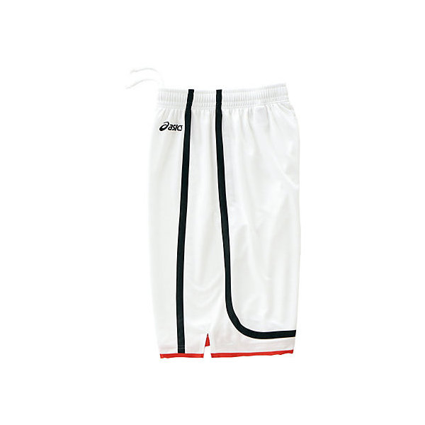 (セール)ASICS(アシックス)バスケットボール メンズ プラクティスショーツ ゲームパンツ XB1852.0190 WHT/BLK