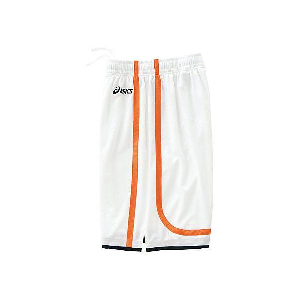 (セール)ASICS(アシックス)バスケットボール レディース プラクティスショーツ WSゲームパンツ XB2852.0120 レディース WHT/ORG