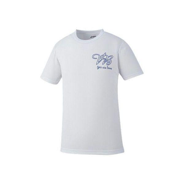(セール)ASICS(アシックス)バレーボール 半袖Tシャツ プリントTシャツHS XW686N.01D WHT