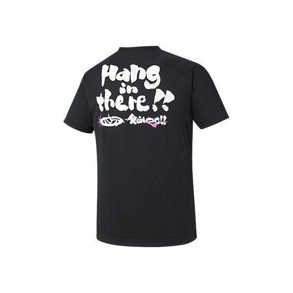 (セール)ASICS(アシックス)バレーボール 半袖Tシャツ プリントTシャツHS XW686N.90A BLK