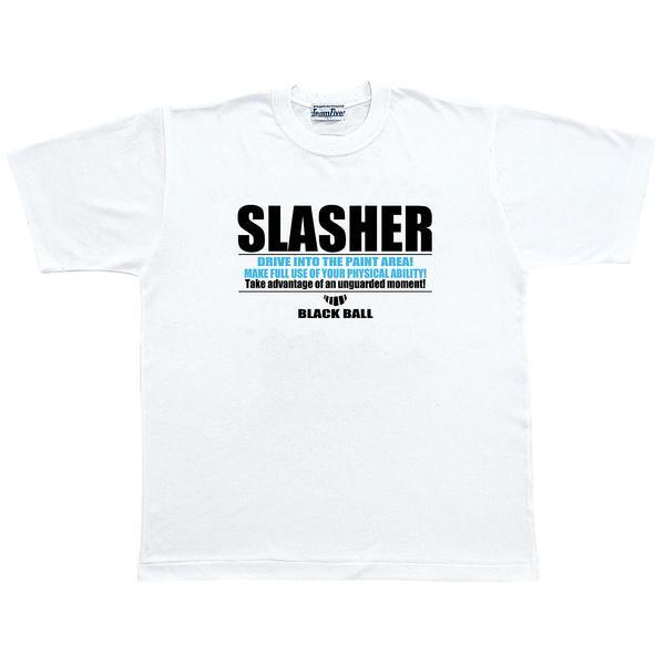 (セール)TEAMFIVE(チームファイブ)バスケットボール メンズ 半袖Tシャツ TEAMFIVE Tシャツ AT-49「スラッシャ―!」 AT-4908 ホワイト