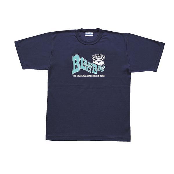 (セール)TEAMFIVE(チームファイブ)バスケットボール メンズ 半袖Tシャツ TEAMFIVE Tシャツ AT-50「ブラックボール!」 AT-5001 ネイビー
