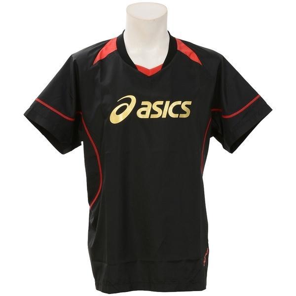 ASICS(アシックス)バレーボール ウェア ウォームアップシャツHS XWW620.9024 BLK/RED