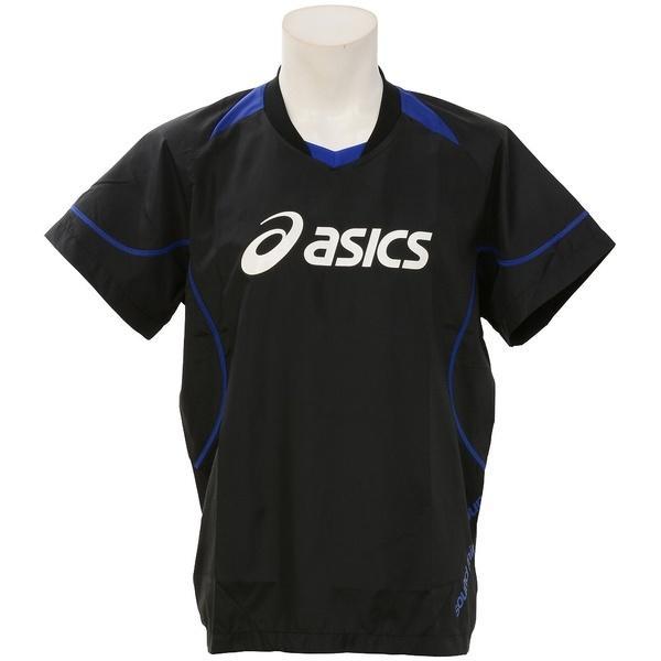 (セール)ASICS(アシックス)バレーボール ウェア ウォームアップシャツHS XWW620.9045 BLK/BLU