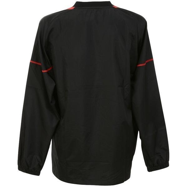 (セール)ASICS(アシックス)バレーボール ウェア ウォームアップシャツLS XWW621.9024 BLK/RED